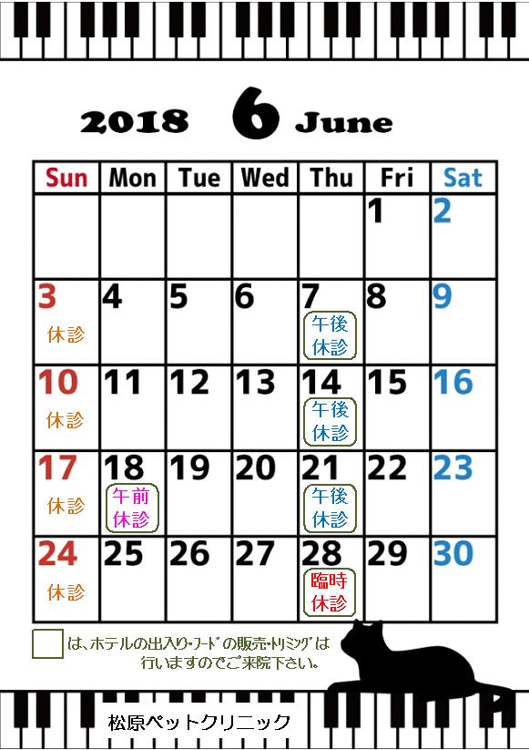 6月の臨時休診のお知らせ